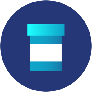 pill dispensing container icon